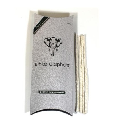 White Elephant Cotton Pipe Cleaners